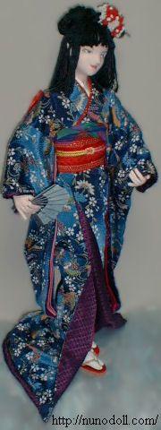 free pattern for Japanese kimono doll.  nunodolls by Runo