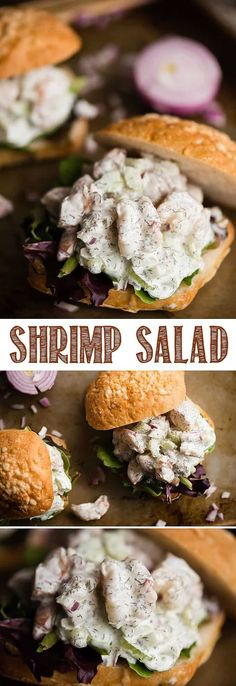 Shrimp Salad Is Very Similar To Everyone's Favorite Chicken Salad Or Tuna Salad, However This Recipe Combines Gently Poached Shrimp, Vegetables For Cr. Healthy Food Habits, Healthy Foods To Eat, Healthy Eating, Healthy Lifestyle, Healthy Tuna Salad, Healthy Salad Recipes, Shrimp Salad Recipes, Seafood Recipes, Shrimp Salad Sandwiches