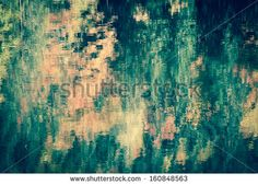 Colorful reflection in water. Abstract background.