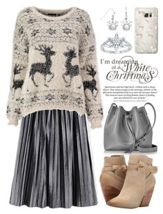 """Reindeer Print 2679"" by boxthoughts ❤ liked on Polyvore featuring Lancaster, Pelle Moda, Casetify and Disney"
