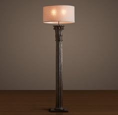 "Cast Corinthian Column Floor Lamp - Iron - Restoration Hardware - $1195 - 76"""
