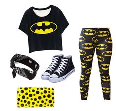 A fashion look from November 2015 featuring cropped shirts, sexy leggings and black flat shoes. Browse and shop related looks. Batman Girl, Black Flats Shoes, Crop Shirt, Bowling, Holi, Fashion Looks, Louis Vuitton, Sweatpants, Leggings