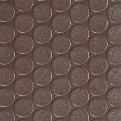 Rubber-Cal Coin Grip Anti-Slip Garage Flooring Rubber Mat Brown - 03-165-2MM-BR-12