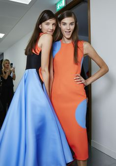 An electric colour palette at Roksanda for SS15 #BestofBackstage #LFW