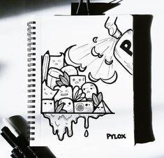 Cute Doodle Art, Doodle Art Designs, Doodle Art Drawing, Cool Art Drawings, Pencil Art Drawings, Art Drawings Sketches, Kawaii Doodles, Cute Doodles, Funny Cartoon Faces