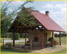 shelter over oven