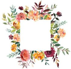 Discover recipes, home ideas, style inspiration and other ideas to try. Flower Backgrounds, Wallpaper Backgrounds, Iphone Wallpaper, Wallpapers, Watercolor Flowers, Watercolor Art, Floral Border, Border Design, Flower Frame