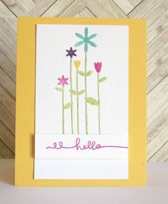 I created this card with a new @Simon Starr Says Stamp Tall Flowers die.  I just love it!!