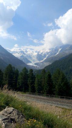 St moritz suisse glacier