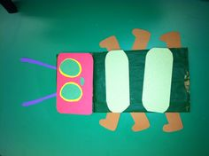 The Very Hungry Caterpillar paper bag puppet.
