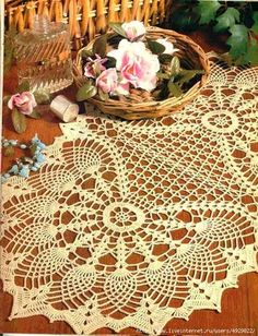 Doily diagram is VERY clear, instructions are in English though the site is Chinese! Go figure. Beautiful design.