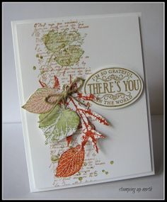 by Laurie, stamping up north: Less is More color challenge