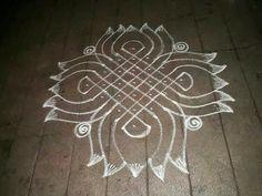 Lotus Rangoli, Indian Rangoli, Kolam Rangoli, Flower Rangoli, Rangoli Ideas, Rangoli Designs Diwali, Rangoli With Dots, Simple Rangoli, Beautiful Rangoli Designs