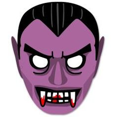 This Halloween paper model is a Vampire Mask, designed by canon papercraft. Try out this fun mask and you, too, can become Vampire! Halloween Masks Kids, Vampire Halloween Party, Printable Halloween Masks, Masque Halloween, Printable Masks, Halloween Birthday, Holidays Halloween, Free Printable, Halloween Parties
