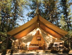 Fancy tent camping in Montana?  Word.