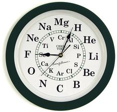 """Chem Time Clock - Now you really can tell your kids it's """"time"""" to brush their teeth!  """"Hey kids, it's Fluoride-o'clock, time to brush your teeth!"""""""