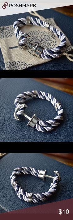 NEW nautical anchor bracelet NEW Anchor Bracelet Nautical Anchor Sailor Rope Bracelet for men or women will fit most wrists. Have other colors available! Accessories Jewelry