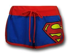 Images of Superman Juniors Short Shorts. I'm a Superhero Geek, don't judge. Hot Shorts, Mini Shorts, Hot Pants, Pajama Shorts, Swim Shorts, Lazy Day Outfits, Summer Outfits, Cute Outfits, Red Outfits