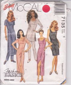 Pattern for semifitted sheath dress knee or by beththebooklady, $7.99