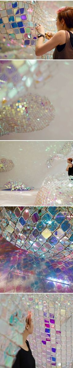 "Installation art. ""Unwoven Light"" by Soo Sunny Park, 2013. I wish I could see this!"