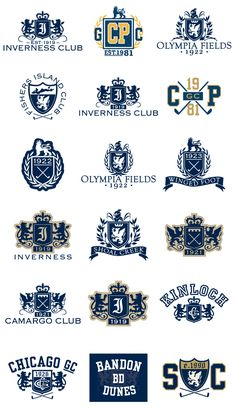 Crests & Emblems - Golf by Matthew Thomas, via Behance
