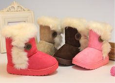 Free Shipping ! Size:21-35 Fashion New Girls Shoes Fur Winter Girls Boy Thicken Shoes Snow Boots #Affiliate