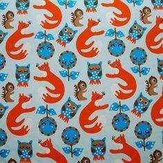 Znok Owls and Foxes Stretch Single Jersey Knit par snugglebots, £18.00