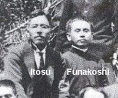 Mestre Itosu, um dos mestre de G. Funakoshi (1890) Chinese Martial Arts, Mixed Martial Arts, Shotokan Karate Kata, Dojo, Okinawa, Kung Fu, Black Belt, Art History, Samurai
