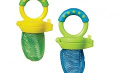 Perfect for teething babies. Put some ice or fresh fruit in there and let your baby go to town.