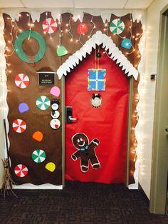 Gingerbread house door decorating 2014
