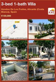 3-bed 1-bath Villa in Hondon De Los Frailes, Alicante (Costa Blanca), Spain ►€130,000 #PropertyForSaleInSpain