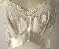 American silk nightgown, 1952 (detail of embroidery and monogram) Discover and share your fashion ideas on misspool.com