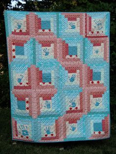 Stunning use of color here in this quilt by Mary Claire Goodwin.