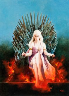 Game Of Thrones Art, Game Of Thrones Characters, Game Of Throne Daenerys, Spanish Artists, Great Tv Shows, Mother Of Dragons, Science Fiction Art, Classical Art, Sci Fi Fantasy