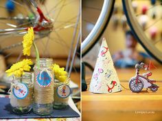 Party decor from Vintage Bicycle + Tricycle Themed 1st Birthday Party at Kara's Party Ideas. See more at karaspartyideas.com!