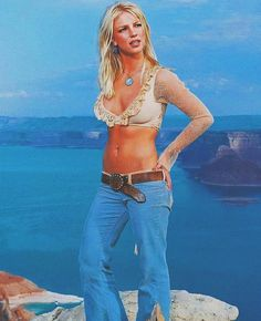 Britney Spears - I'm Not a Girl, Not Yet a Woman 🦋 Britney Spears Bikini, Britney Spears 1999, Britney Meme, Baby One More Time, Blue Aesthetic, Swimwear, Bikinis, Halloween Costumes, Celebs