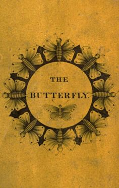 Book cover. The butterfly. c. 1837.