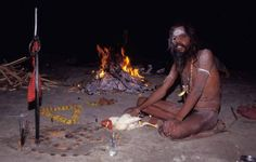 Dead Human Flesh Eating cannibal Aghori monks of Varanasi India