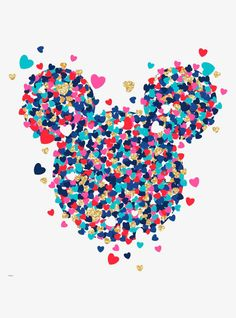 Add some Mickey Mouse to your house with this heart confetti decal! With multi color hearts and glitter details. Disney Mickey Mouse, Arte Do Mickey Mouse, Mickey Mouse Tattoos, Mickey Mouse And Friends, Mickey Mouse Tumblr, Cute Patterns Wallpaper, Cute Wallpaper Backgrounds, Wallpaper Iphone Cute, Aesthetic Iphone Wallpaper