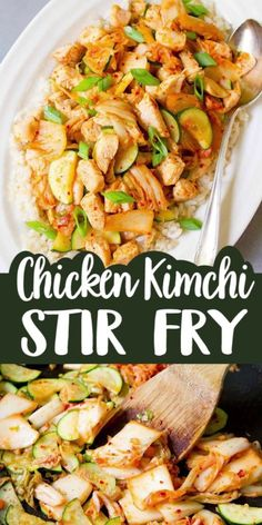 15 minute recipe! This easy Chicken Kimchi Stir Fry recipe boasts veggies, lean protein, probiotics and tons of flavor – all in one dish. 204 calories and 2 Weight Watchers SP | Low Carb | Recipes | Zucchini | With Vegetables | Healthy | Cabbage | Fermented Foods #kimchirecipes #stirfryrecipes #chickenstirfry #weightwatchers #healthychickenrecipes Healthy Chicken Recipes, Vegetarian Recipes, Chickpea Recipes, Turkey Recipes, Stir Fry Recipes, Low Carb Recipes, Kimchi Cabbage, Healthy Stir Fry, Easy Dinner Recipes