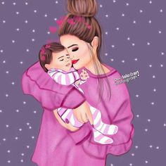 and baby drawing Yesmin la mejor 💯😘💋 Yesmin la mejor 💯😘💋 Mother And Daughter Drawing, Mother Art, Mom Daughter, Mother And Child, Daughters, Cute Girl Drawing, Baby Drawing, Sarra Art, Girly M