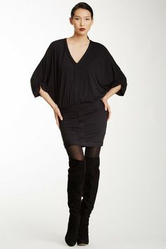 MAXSTUDIO.COM V-Neck Dolman Sleeve Dress by Non Specific on @HauteLook