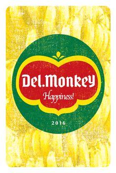 Del.Monkey   年賀状 2016   Postcard Design