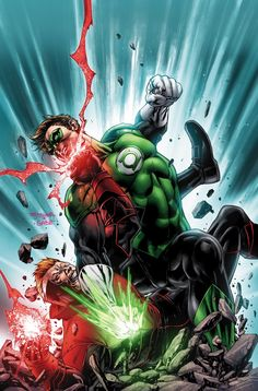 """RED LANTERNS #24  Written by CHARLES SOULE  Art by ALESSANDRO VITTI  Cover by STEPHEN SEGOVIA  On sale OCTOBER 23 • 32 pg, FC, $2.99 US • RATED T+  """"LIGHTS OUT"""" part four! Can the Lanterns cooperate with each other long enough to defeat Relic? If Hal Jordan thought Guy Gardner was difficult before, just wait till he meets Guy Gardner—RED LANTERN!"""