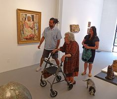 Samson Gallery art opening for the Marguerite Zorach, Dahlov Ipcar, & William Zorach Show, South End, Boston, MA, Saturday, June 20, 2015