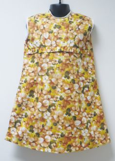 1970's Girl's Unworn Age 56 Yellow Floral Dress by MislaidVintage, £10.00