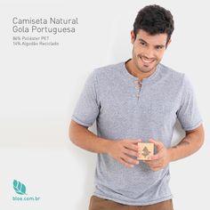 Camiseta Natural Gola Portuguesa  A camiseta natural gola portuguesa é feita com 86% de poliéster PET e 14% de algodão reciclado. Esse tecido é muito macio e, por isso, é uma peça confortável e ideal para qualquer ocasião, pois tem um acabamento diferenciado feito com muita dedicação pela Bloe.  Conheça: www.bloe.com.br/camiseta-natural-gola-portuguesa-masculina-966.html  #bloe #bloedecaranova #bloenovosite #modaconsciente #modasustentavel #feitonobrasil