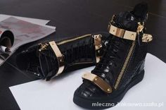 Czarne Giseppe Zanotti  #adidasy #czarnesportowe #nowesportowe