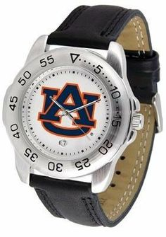 Auburn University Tigers AU NCAA Mens Leather Sports Watch by SunTime. $47.95. This handsome eye-catching Mens Sport Watch with Leather Band comes with a genuine leather strap. A date calendar function plus a rotating bezel/timer circles the scratch-resistant crystal. Sport the bold colorful high quality logo with pride.This watch comes with a 3 year limited manufacturers warranty on the mechanism of the watch and the warranty states Do not submerge your watch ...
