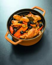 Poulet aux olives par Gérald Passedat - une recette Méditerranée - Cuisine